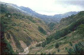 Mountain area in Cova Lima
