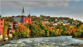 Skyline of Berlin, New Hampshire