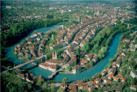 BernBerne - Aerial view of the Old City