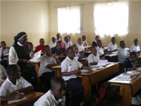 A Bernadine teacher in Congo.