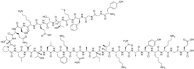 Chemical structure of Beta-endorphin.