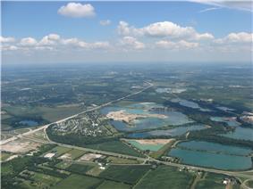 Lakes in southwestern Bethel Township