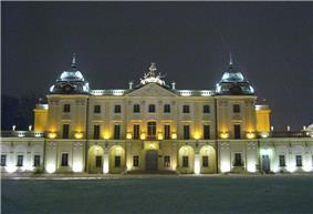 Branicki Palace at night