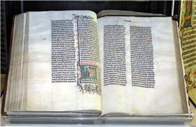 Malmesbury Abbey's 1407 Bible from Belgium