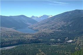 Big Salmon Lake and the Bob Marshall Wilderness.