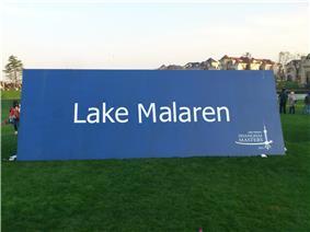 Een billboard tijdens de editie van 2011