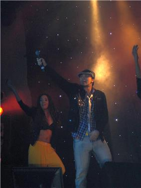 Billy Crawford in London performing for a concert tour