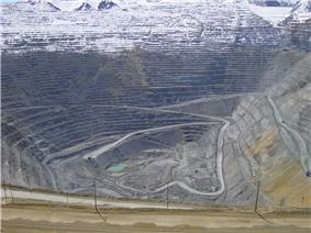 The Bingham Canyon Open Pit Copper Mine.