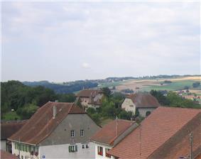 Bioley-Magnoux village and castle