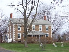 Cobblestone Farmhouse at 1229 Birdsey Road