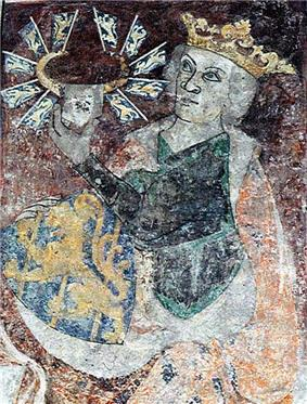 Limestone painting of Birger Magnusson c. 1300