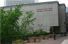 exterior of a modern concert hall