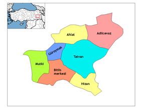 Districts of Bitlis