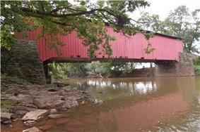 Bitzer's Mill Covered Bridge in West Earl Township