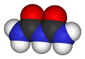 Space-filling model of the biuret molecule