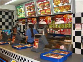 A kosher Burger King location