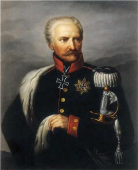 Portrait of a hatless Gebhard Leberecht von Blücher in military dress