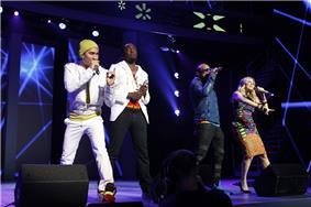 Black Eyed Peas at Walmart meeting.jpg