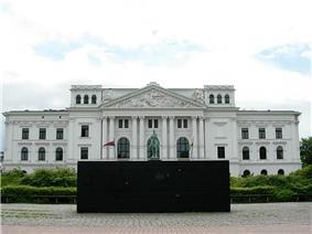 Sol LeWitt, Black Form Dedicated to the Missing Jews, townhall Altona (Altona-Altstadt).