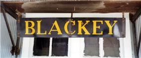 Disused railroad sign, Blackey, Kentucky