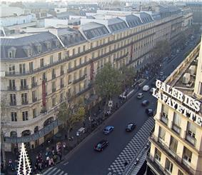 Boulevard Haussmann in the 9th arrondissement.