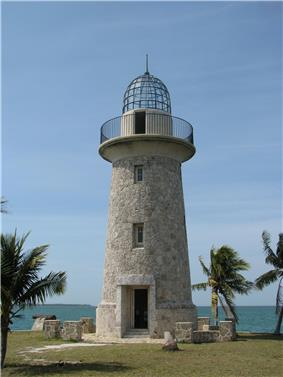 Stone tower resembling a lighthouse