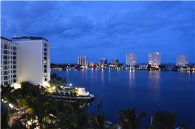 Boca Raton barrier island skyline, seen from the Boca Raton resort