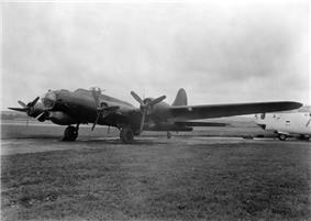 An electronic warfare B-17 Flying Fortress Mk III of 214 Squadron, August 1944.
