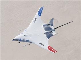 Boeing X-48C in flight