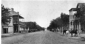Main Street in Boerne, Texas ca 1890-1900