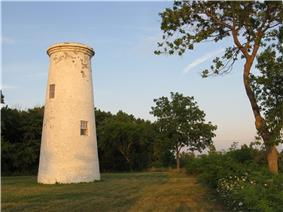 The lighthouse forms part of Bois Blanc Island Lighthouse and Blockhouse NHS, Boblo Island, ON