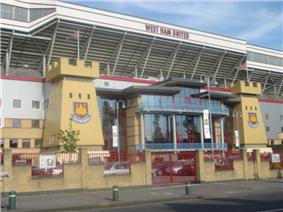 West Ham United's Boleyn Ground from Green Street