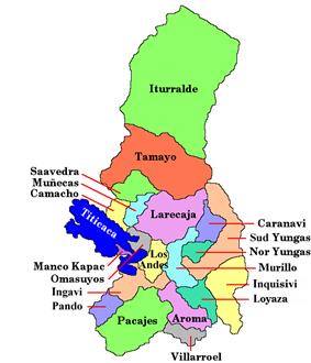 Provinces of the La Paz Department