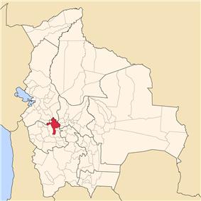 Location of Cercado Province in Bolivia