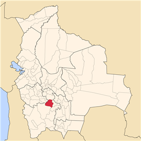 Location of the Tomás Frías Province within Bolivia
