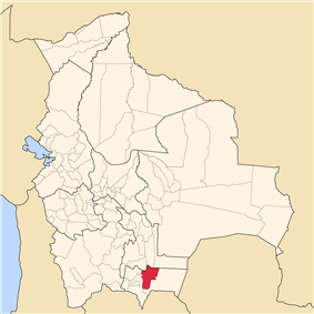 Location of Burnet O'Connor in Bolivia