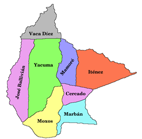 Provinces of the Beni Department