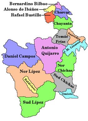 Provinces of the Potosí Department