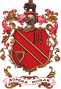 The coat of arms as granted in 1890
