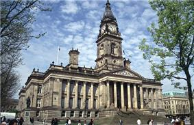 Bolton Town Hall, the seat of Bolton's borough council