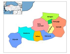 Districts of Bolu