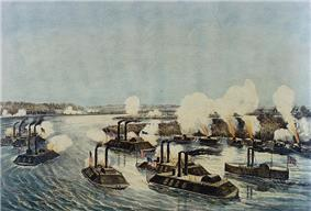 Vessels of the Mississippi River Squadron in the Battle of Island Number Ten