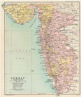 Location of Bombay State