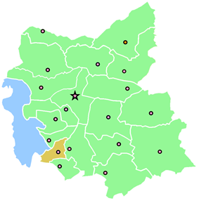 Location of Bonab County in East Azerbaijan Province