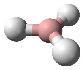 Ball-and-stick model of borane