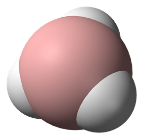 Spacefill model of borane