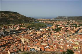 view of Bosa from the Serravalle's Castle