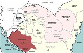Location of Bosnia Eyalet