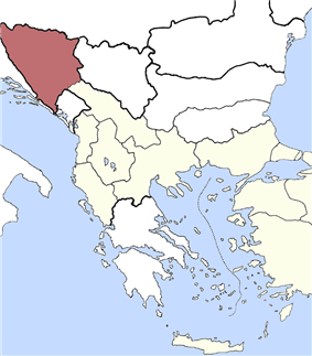 Location of Bosnia Vilayet