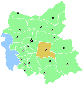 Location of Bostanabad County in East Azerbaijan Province